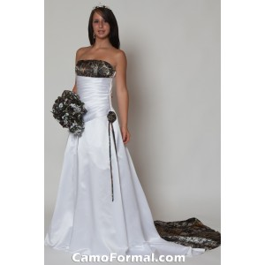 * 3132 &quot;Crystal&quot; A-Line Bridal Gown with Train