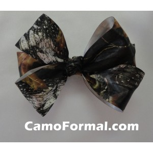 Camo Hair Bow Barrette Bow