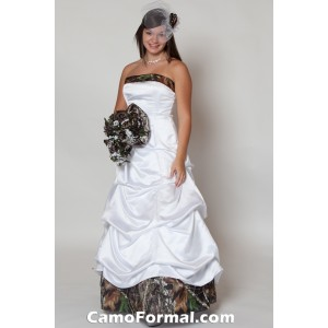 * 3135M Strapless, Pickup Skirt, Accent Bodice and Skirt Band