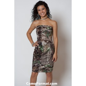 *BM 7711 Camo Maids Slim, Knee Length