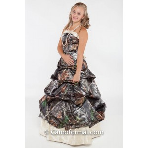 * 3135M Camo Strapless, Pickup and Gold Brocade Under-Skirt