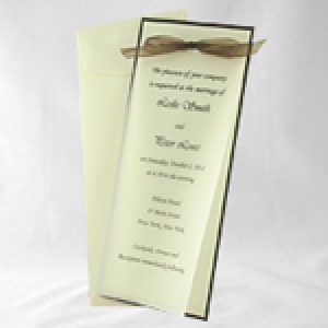 DIY Vellum Invitation Kit Slim-Brown &amp; Ecru