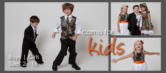 Camo Children Clothing Wedding Formal